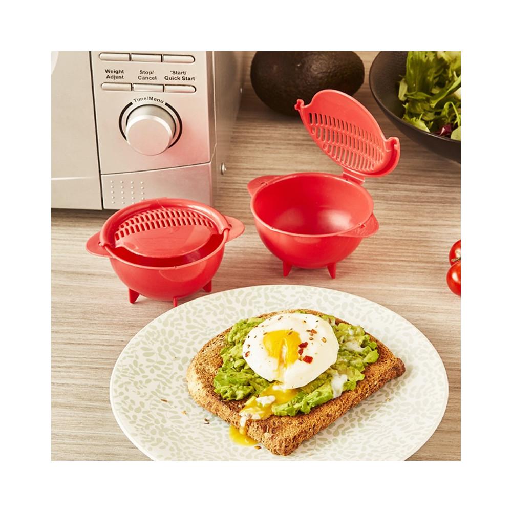lot de 2 cuit œufs poches en matiere plastique