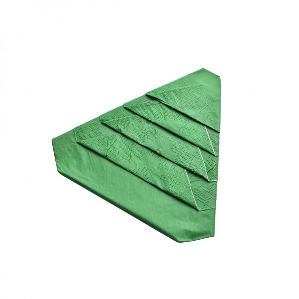 Lot de 8 serviettes pré-pliées forme sapin6381