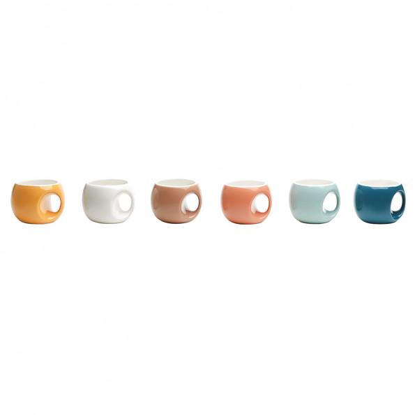 Lot de 6 tasses à café rétro6619