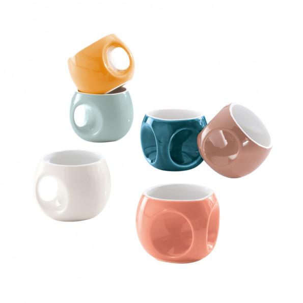 Lot de 6 tasses à café rétro6620