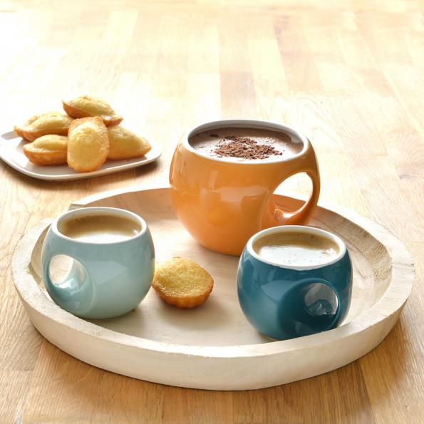 Lot de 6 tasses à café rétro6621