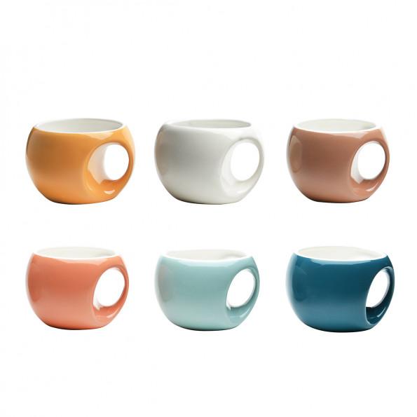 Lot de 6 mugs rétro6622