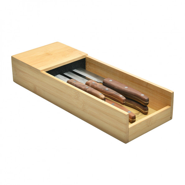 Le lot de 5 couteaux + le range-couteaux pour tiroir6772