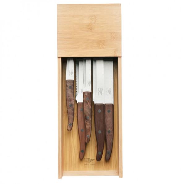 Le lot de 5 couteaux + le range-couteaux pour tiroir6774