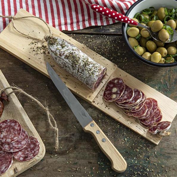 Planche à saucisson et son couteau6837