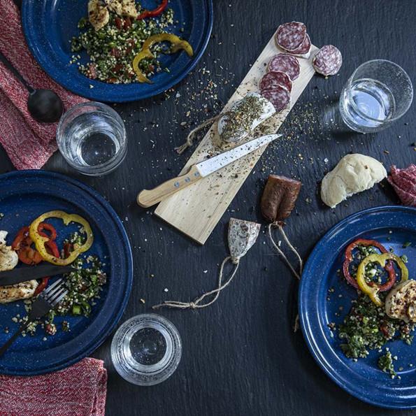 Planche à saucisson et son couteau6838