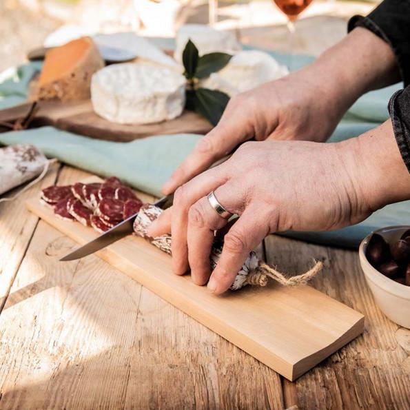 Planche à saucisson et son couteau6839