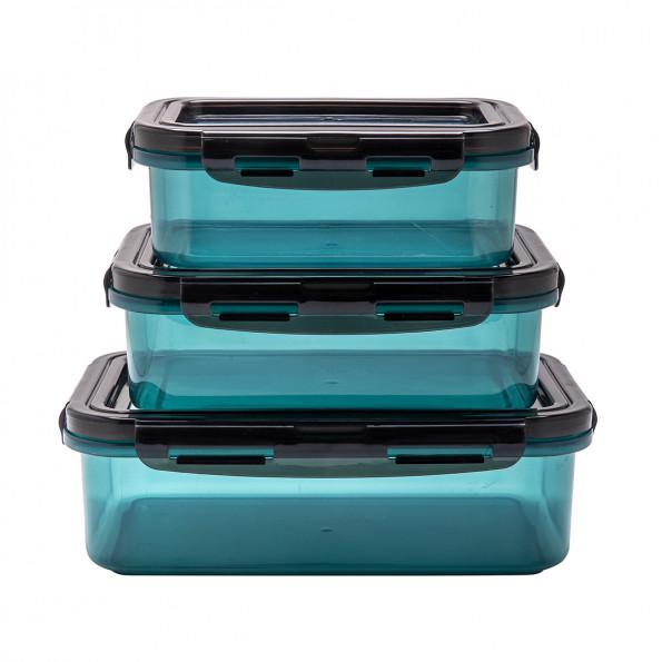 Lot de 3 boîtes avec couvercle flexible7197