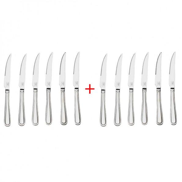 """Lot de 12 couteaux à steak """"AIX7457"""